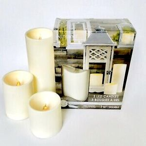 ✨NWT✨ 3-piece LED Candle Set in Original Packaging